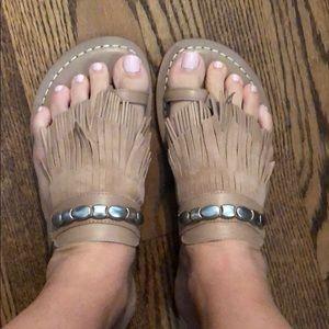 Bernardo size 10 suede/leather slides!